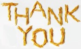 Here's a French Fry thank you, from me to you!!  Photo Credit: PublicDomainPictures
